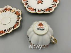 Rare Shelley Foley Wileman Trio Red Flowers Deisgn. (Tea cup saucer side plate)
