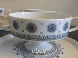 Rosenthal Tapio Wirkkala 4 Ice Blossom 1960s Pedestal Cream Soup Cup & Saucers