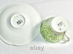 Rosina Tea Cup Saucer Fine Bone China England Chintz Flowers Rare Collectible
