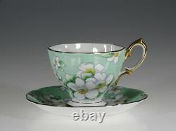 Royal Albert'Apple Blossom' Chintz Tea Cup and Saucer, England c. 1930