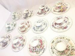 Royal Albert Bone China Tea Cup Saucer Flower Of The Month Series Trio Set