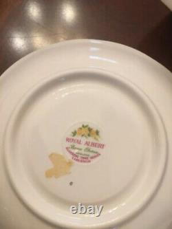 Royal Albert Cup Saucer Blossom Time Orange Hawthorn Apple Laburnum 4 Sets