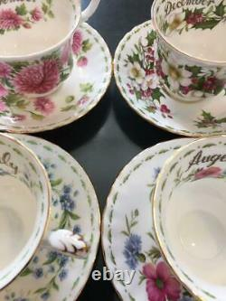 Royal Albert Flower Of The Month Series Cup Saucer