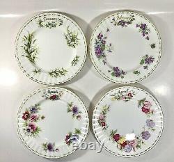 Royal Albert Flowers of the Month Cup & Saucer, Dessert Plates & Sugar Bowl
