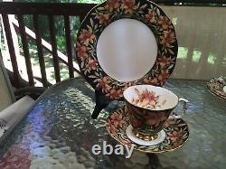 Royal Albert Provincial Flowers Prairie Lily Footed Tea Cup Saucer 8 Plate