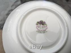 Royal Albert Provincial Flowers Purple Violet Footed Cup Saucer 8 Plate