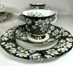 Royal Albert Provincial Flowers Set of 4 Each Tea Cups Saucers Dessert Plates