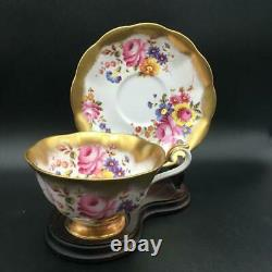 Royal Albert Treasure Chest Series Cabbage Rose Flowers Tea Cup & Saucer Set Cs6