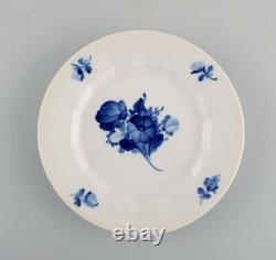 Royal Copenhagen Blue Flower angular. Twelve coffee cups with saucers and plates