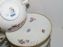 Royal Copenhagen Full Sachian Flower, 12 sets of soup cup with matching saucer