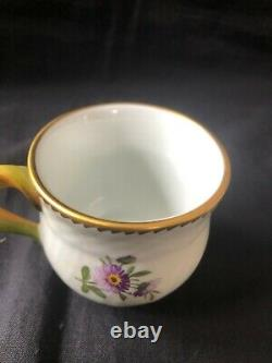 Royal Copenhagen Saxon Flower, Cream Cup with Saucer in Hand Painted Porcelain