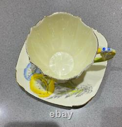Royal Paragon Crocus Flower Handle Cup And Saucer Vintage Bine China England