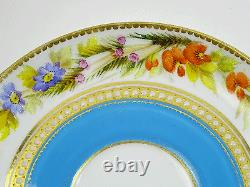 Royal Worcester Jewel Flower Coffee Cup Saucer