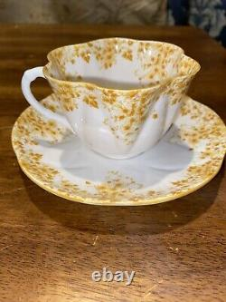 SHELLEY DAINTY YELLOW 051/Y Tea CUP AND SAUCER YELLOW Flowers Rare EC