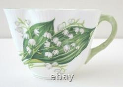 SHELLEY Dainty LILY OF THE VALLEY Flower Tea Cup Saucer Set Bone China England