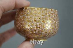 Satsuma Meiji Hand Painted Thousand Flowers Demitasse Cup & Saucer C. 1868-1912