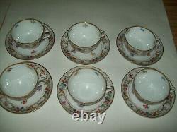 Schumann Empress Dresden Flowers Cups & Saucers Germany Bavaria Set of 6