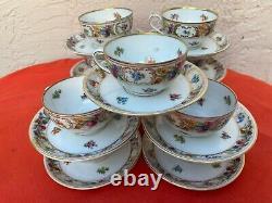 Set Of 11 Schumann Arzberg Germany Empress Dresden Flowers Cups & Saucers