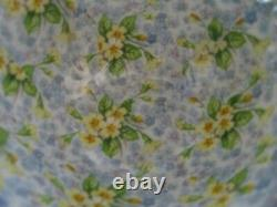 Shelley Black Yellow Primrose Chintz Tea Cup And Saucer