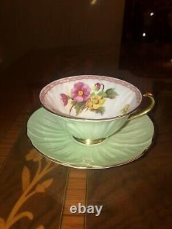 Shelley Oleander Cup Saucer Flower Bouquet