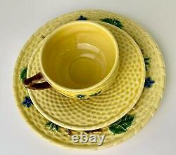 Tiffany & Co. Portugal Basketweave Blackberries Cup Saucer and Dessert Plate
