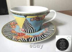 VERSACE Rosenthal HOT FLOWERS Full Size Cup & Saucer Set(s) Mint