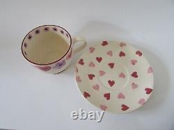 VTG Emma Bridgewater England Heart & Flower Cup & Saucer