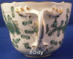 Vintage 20thC Meissen Porcelain Indian Flowers Cup & Saucer Porzellan Tasse