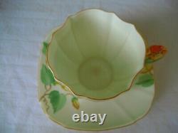 Vintage Paragon Flower Handle Tea Cup & Saucer Backstamp 1931 1933