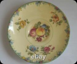 Vintage Paragon Old Star Mark Flower Handle Demitasse Cup and Saucer Fruit